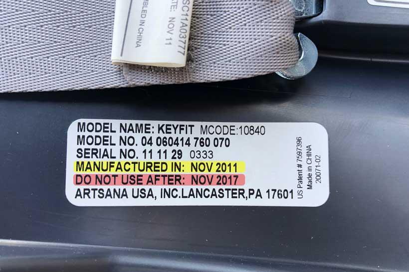 car seats expire